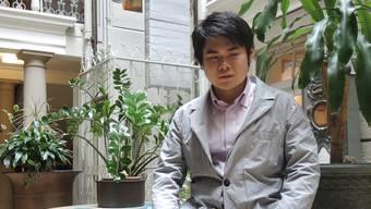 Er bringt Baden ins japanische Fernsehen: Der blinde Pianist Nobuyuki Tsujii, hier im Atrium-Hotel Blume.