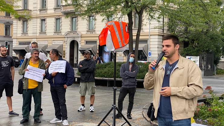 Vor der Grossratssitzung kam es am Montag zu Protesten.