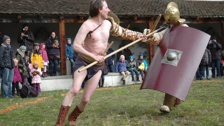 Voller Einsatz beim Gladiatorenkampf