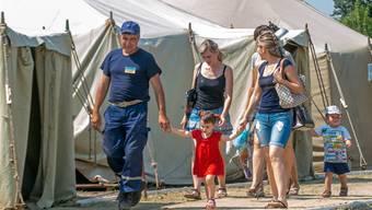 Sie wissen nicht, was die Zukunft bringt: Binnenflüchtlinge in der Ukraine.
