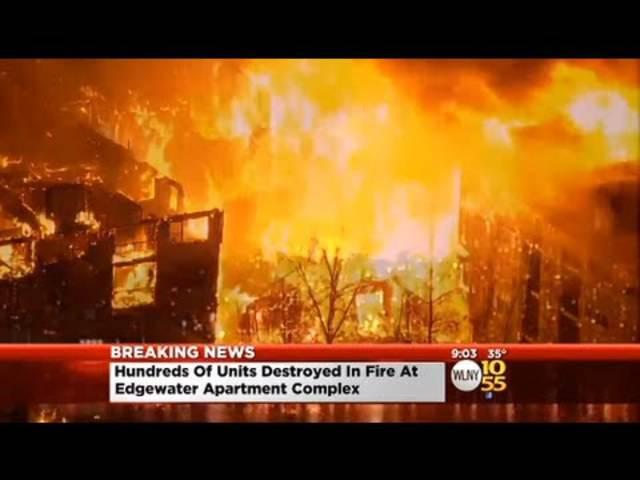 Flammenmeer: Gewaltiges Feuer vor den Toren von New York City