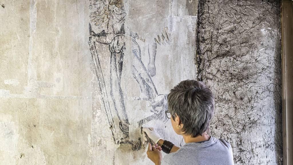 Seltene Wandmalereien in Zuger Altstadthaus entdeckt