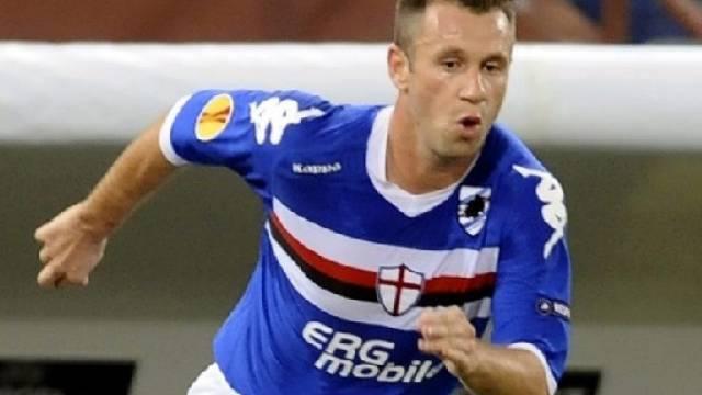 Antonio Cassano gewann mit Sampdoria Genua gegen Debrecen