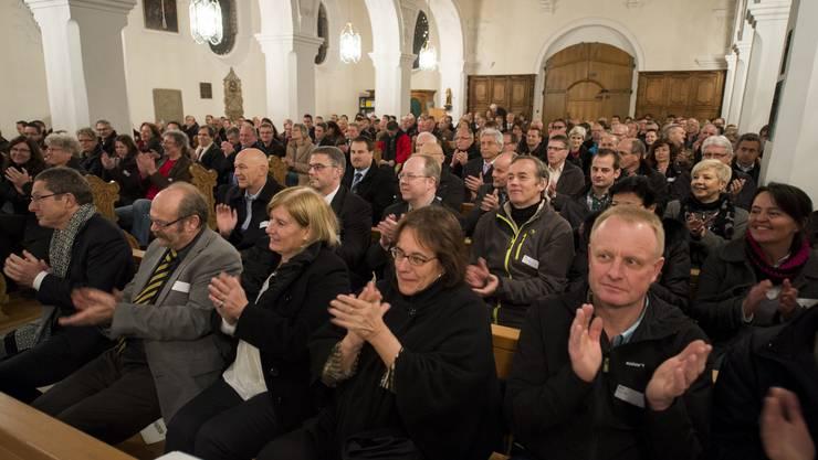 225 Gemeinderäte aus den Bezirken Zurzach und Brugg wurden am Donnerstag Abend feierlich in Pflicht genommen.