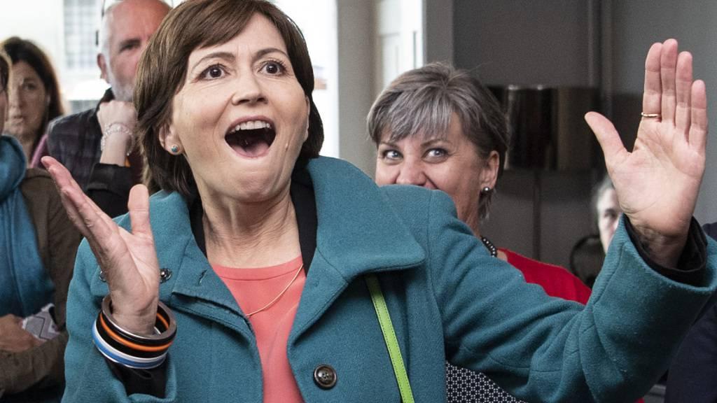 Die Berner Nationalrätin Regula Rytz führte die Grünen im vergangenen Herbst zum Wahlsieg. Nun zeigt sich: Die Partei profitierte von vielen Stimmen von ehemaligen SP-Wählerinnen und -Wählern. (Archivbild)