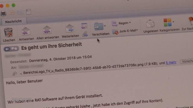 Erpresser-Mails in Solothurn