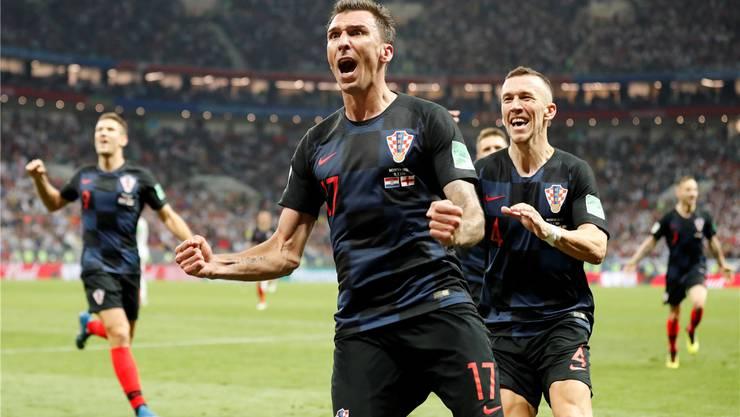 Mario Mandzukic schiesst Kroatien in den WM-Final.
