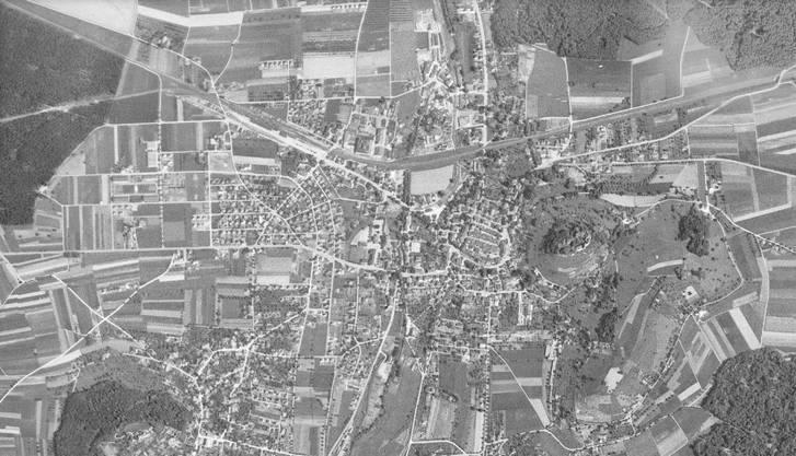 Blick auf Lenzburg im Jahr 1946...