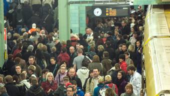 Solche Szenen spielten sich diese Woche an deutschen Bahnhöfen ab.