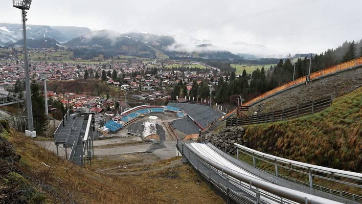 Oberstdorf vor dem ersten Springen.