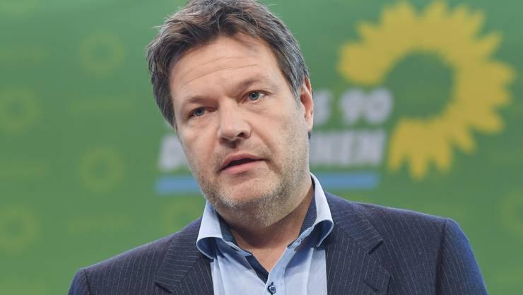 Hat sich von Twitter verabschiedet: der Bundesvorsitzende der Grünen, Robert Habeck. (Archivbild)