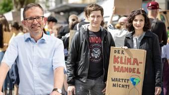 Gesellt sich die GLP mit Präsident Beat Hiller (links) zu Grünen-Präsident Daniel Hölzle und SP-Präsidentin Gabriela Suter? (Montage)
