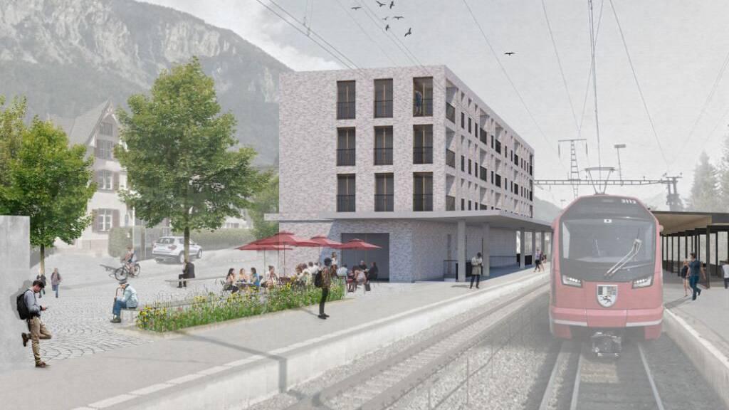 RhB baut in Domat/Ems für knapp 30 Millionen einen neuen Bahnhof