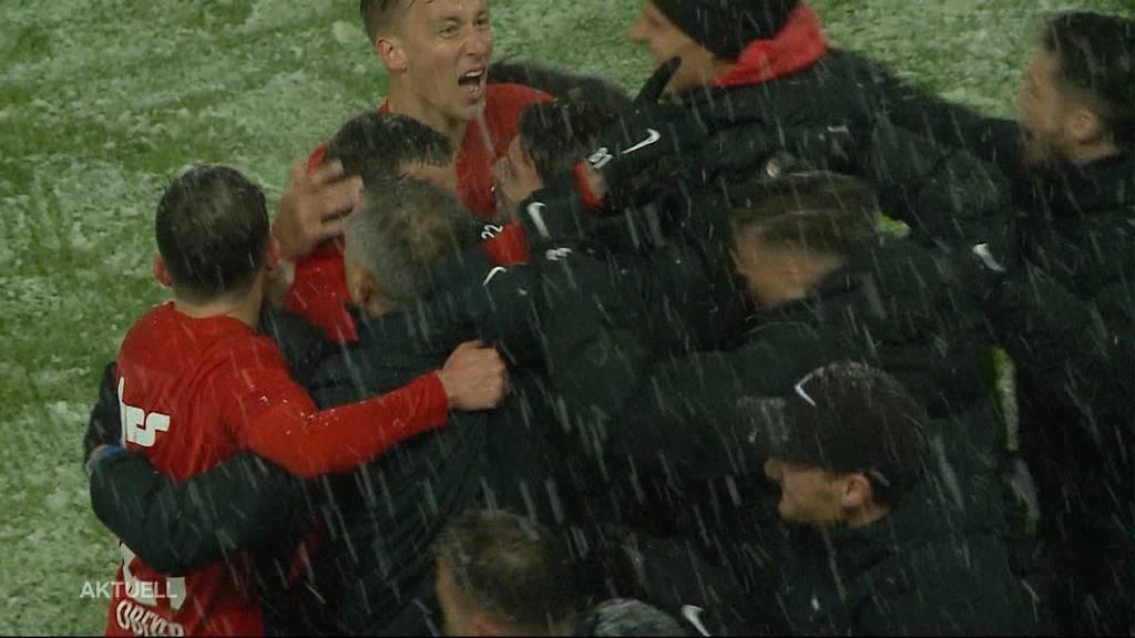 FC Aarau siegt auch im Schnee gegen Lausanne