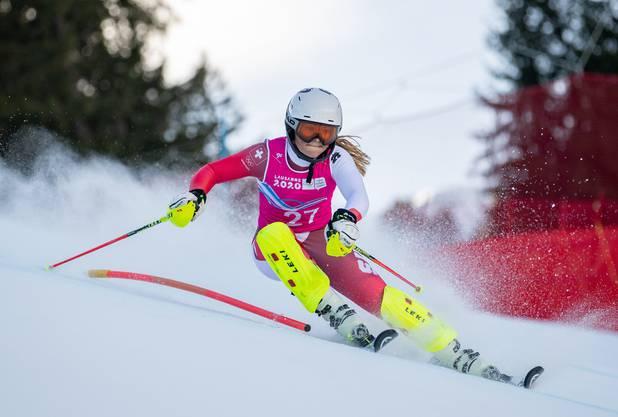 Delia Durrer, hier im Einsatz bei den Jugend-Winterspielen Anfang März.
