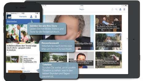 Die neue AZ-App fürs Smartphone und Tablet.