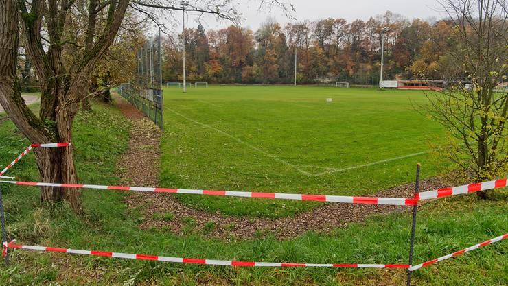 Grün, aber uneben: Für die Fussballer kein Problem, für die Deponie-Experten schon. Emanuel Freudiger