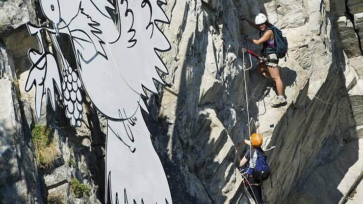 Klettersteig Basel : Kleiner daubenhorn klettersteig klettersteige via ferratas in