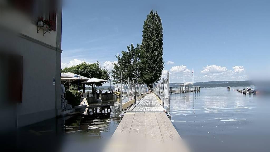 Hochwasser am Untersee: Stefan Oehler