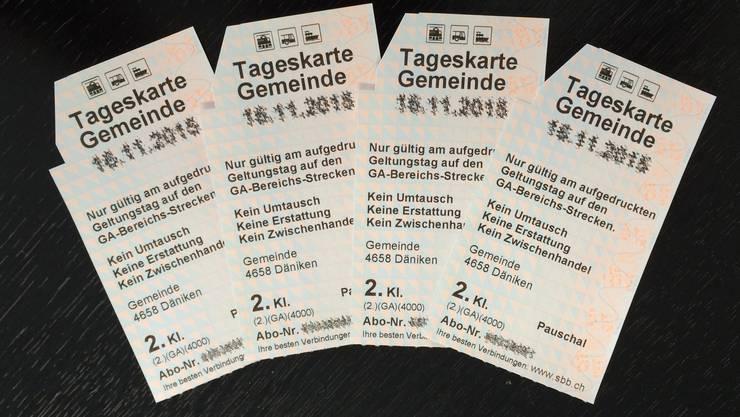 In Walterswil steht das Angebot der SBB-Tageskarten zur Diskussion.