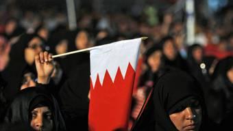 Diese Frauen gingen Ende Februar in Bahrain gegen die Regierung auf die Strasse (Archiv)