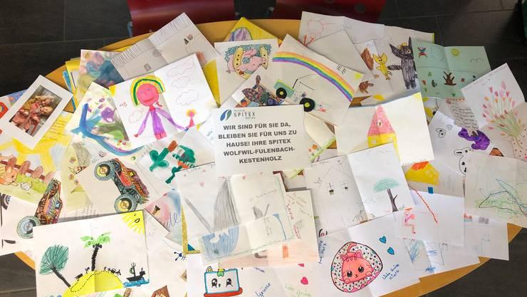 Briefe und Zeichnungen von Kindern aus der ganzen Schweiz erreichten die Spitex-Klienten aus Wolfwil, Fulenbach und Kestenholz.