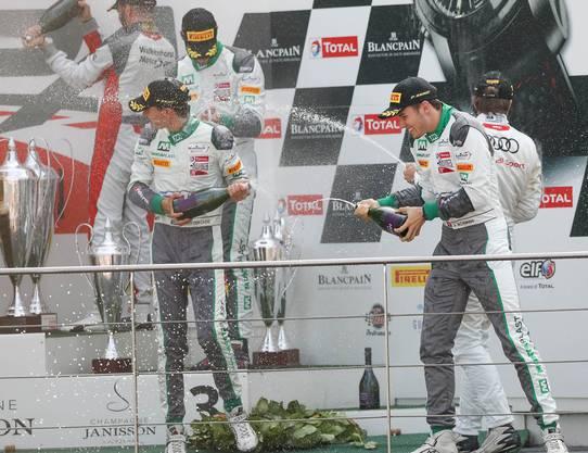 Jeffrey Schmidt holte sich mit seinem Team Platz drei beim größten GT3-Rennen der Welt.