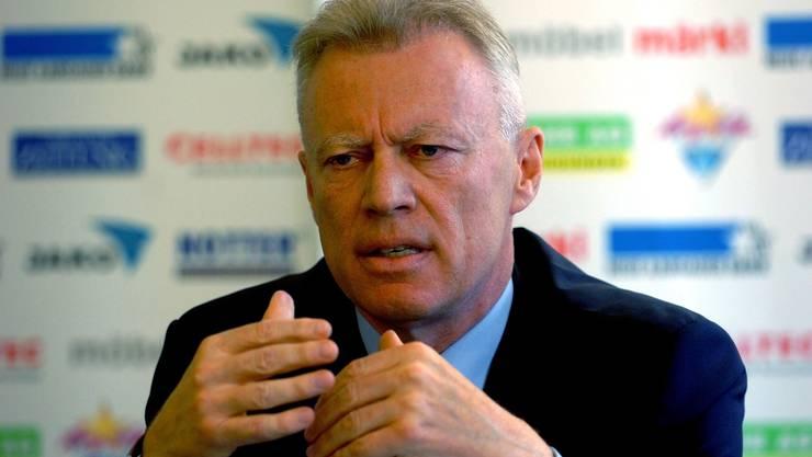 Für René Herzog, Stadionverantwortlicher beim FC Aarau, hat die sportliche Situation keinen Einfluss auf das Stadionprojekt des FCA. (awa/Archiv)