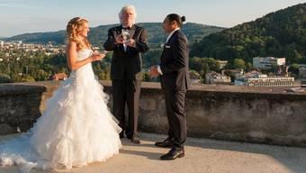 Baden bietet mit der Ruine Stein eine ideale Location für Hochzeiten.