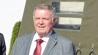 Heinrich Schweizer 2016 beim 50-Jahr-Jubiläum der Polytronic AG.