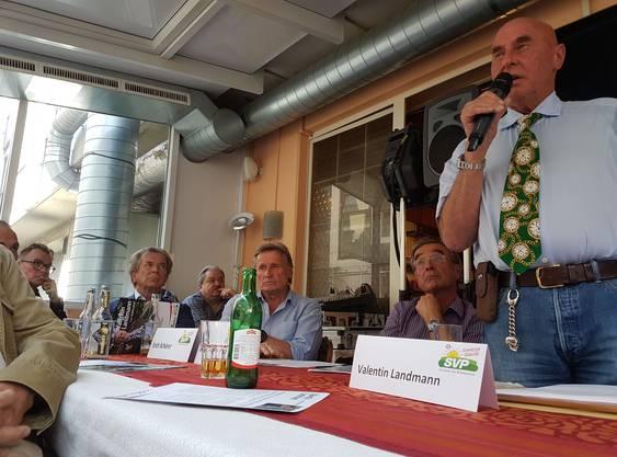 Valentin Landmann, Spitzenkandidat der Seniorenliste der SVP des Kantons Zürich.