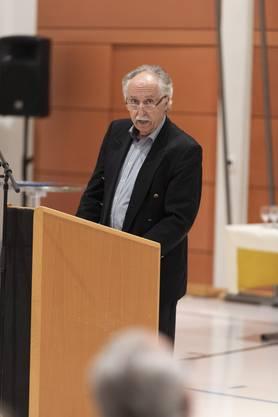 Heinz Pfister stellt die Gemeinde Arni vor.