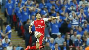 Arsenal steht dank zwei Toren von Alexis Sanchez im Cupfinal