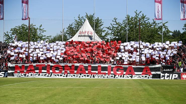 """Die Super League, in Fankreisen immer noch die """"Nationalliga A"""", ist das langfristige Ziel des FC Aarau."""