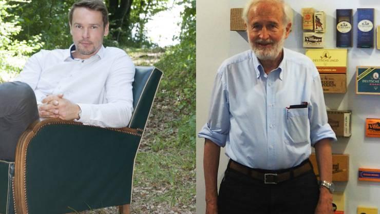 Sie sind beide Unternehmer, doch während Ralph Schulz (l.) in Waldshut aufgewachsen ist und seine Firma in der Schweiz steht, ist es bei Heinrich Villiger (r.) genau anders rum.