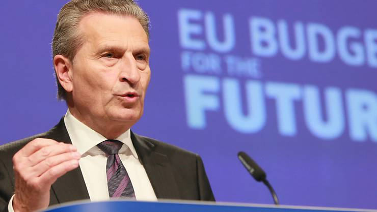 EU-Haushaltskommissar Günther Oettinger hat am Mittwoch in Brüssel, bekannt gegeben, dass im siebenjährigen Finanzrahmen von 2021 bis 2027 trotz EU-Austritt Grossbritanniens rund 192 Mrd. Euro mehr zur Verfügung sollen als im laufenden Finanzrahmen.