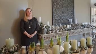 Floristin Céline Wiedemeier lädt ab heute Abend zum Eröffnungsapéro ein.