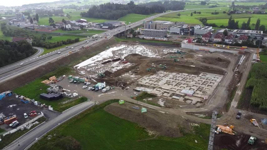 Riesen-Baustelle: Aepli Metallbau investiert in die Zukunft