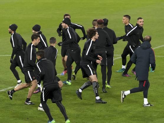 Die Mannschaft von PSG ist am Montag angereist.