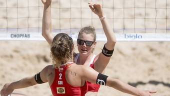Das Duo Nicole Eiholzer (rechts) und Elena Steinemann (links) wird es in Zukunft auf Sand nicht mehr geben