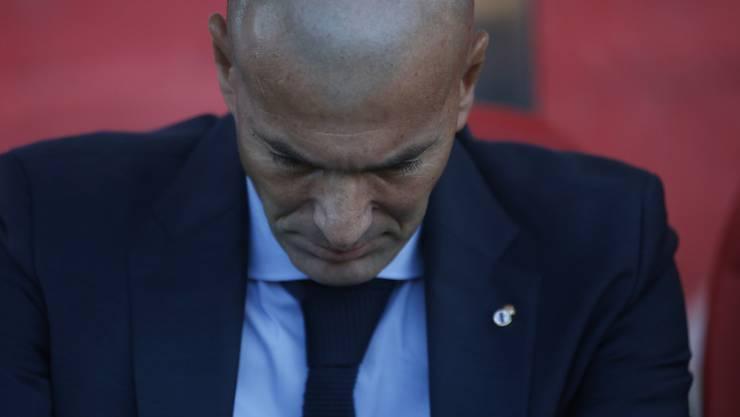 Coach Zinédine Zidane kann mit Real nicht immer nur triumphieren