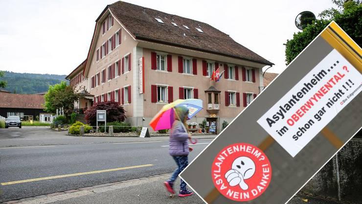 Kleber im Wynental: «Asylantenheim im Oberwynental? Schon gar nicht!!!», so die Message der unbekannten «Eidgenossen».