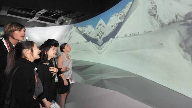 Besucher des Schweizer Pavillons an der Weltausstellung im südkoreanischen Yeosu (Archiv)