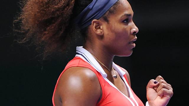 Die erfolgreiche Serena Williams ballt die Faust.