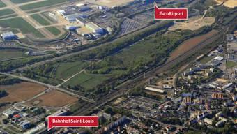Bahnhof und Flughafen sollen durch eine Bahnlinie verbunden werden. Saint-Louis hat hier auch andere Pläne.