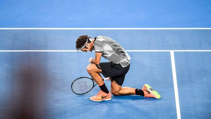 2017 gewinnt Roger Federer in Melbourne seinen 18. Grand-Slam-Titel.