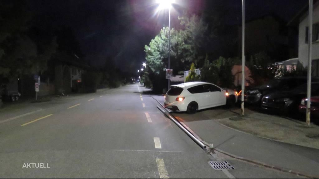 Rupperswil: Junglenker kracht in Porsche einer Autogarage