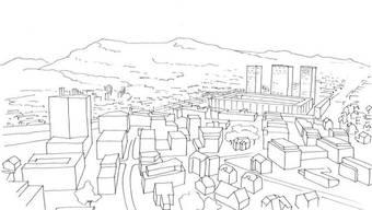 Plan B für das neue FC-Aarau-Stadion im Torfeld Süd - neu beinhaltet das Projekt drei grosse Hochhäuser