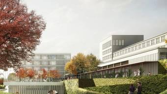 So soll sich das Sekundarstufenzentrum Burghalde in Baden dereinst präsentieren. zvg