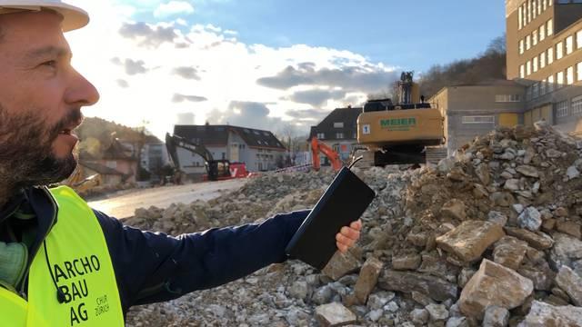 Baustelle Oberstufenzentrum Burghalde: «1500 bis 1800 Kubik werden zurzeit täglich abgebaut»